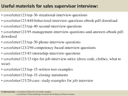 top 5 sales supervisor cover letter samples