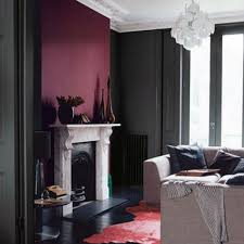 burgundy accent wall or you can paint a big palette for the