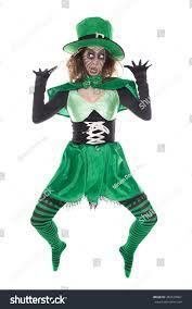 portrait green goblin isolated on stock photo 482678062