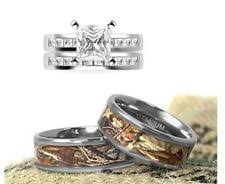 camo wedding rings sets cubic zirconia titanium engagement wedding ring sets ebay