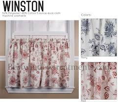 Toile Cafe Curtains Winston Toile Cafe Tier Curtains In Or Navy Blue Color 24