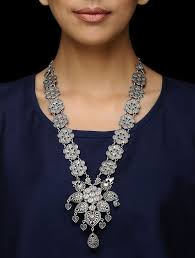 silver necklace images Buy tribal silver necklace online at jpg