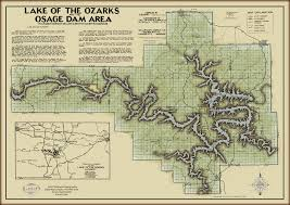 ozarks map lake of the ozarks black type map gallup map