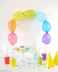 how to make a balloon arch diy easy rainbow balloon arch party ideas party printables