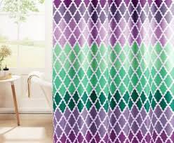 Blue And Green Shower Curtains Purple And Green Shower Curtain Bathroom Cintascorner Shower