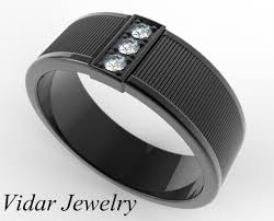 mens black wedding ring men s black gold diamond wedding band vidar jewelry unique