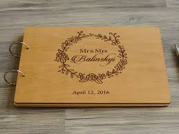 wedding guestbook personalised wooden wedding guest book balinskyi wedding guest