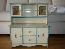 antique 1920 u0027s child doll hutch with celluloid windows u0026 painted