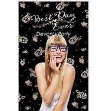 Personalized Photo Backdrop Best Day Ever Party Personalized Photo Booth Backdrops 36