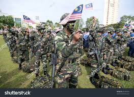 Army Ranger Flag Pahang Malaysiasept 16 Malaysia Royal Ranger Stock Photo 85306435