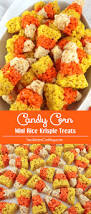 candy corn mini rice krispie treats two sisters crafting