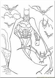 Batman Picture Color Kids Coloring