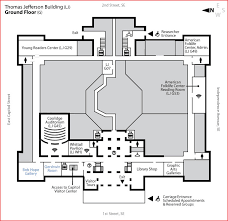 ground floor plan jefferson building ground floor library of congress