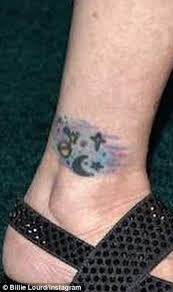 billie lourd gets ankle tattoo matching carrie fisher u0027s daily