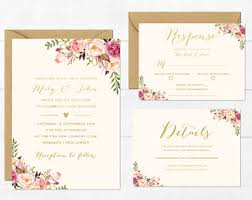 wedding invitations etsy