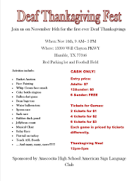 atascocita high shool asl thanksgiving houston deaf network