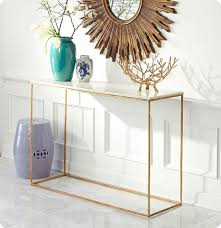 Marble Entry Table Sleek Gold Leaf And Marble Console Table With A Slim Open Frame