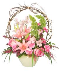 charleston florist trellis flower garden sympathy arrangement in charleston sc