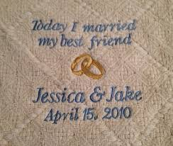 personalized wedding blanket personalized today i married my best friend blanket let