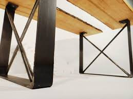 U Shaped Table Legs Buy Custom Metal Dining Table Legs Made To Order From Timber