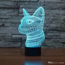 usb cat night light 2018 cat head diy acrylic 3d l night light usb led power bank