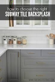 kitchen subway tile backsplash installing a subway tile backsplash in our kitchen the sweetest digs