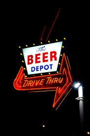 beer depot drive thru sign wicked signage logos pinterest