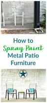 How To Redo Metal Patio Furniture - how to spray paint metal patio furniture
