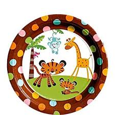 baby shower monkey fisher price 7 dessert plates baby shower monkey