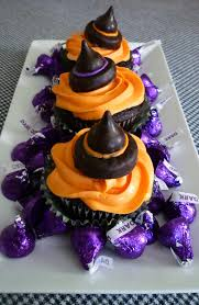 cupcakes with candy witch hats sweet simple stuff