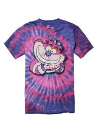 disney alice in wonderland tie dye cheshire cat t shirt topic