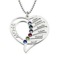personalized birthstone necklaces personalized heart birthstone necklace sted heart name