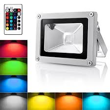 Outdoor Led Flood Lights Warmoon Outdoor Led Flood Light 10w Rgb Color Changing Waterproof