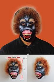 gorilla halloween mask halloween baboon monkey orangutan leopard latex animal face mask