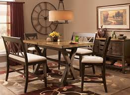 Benches For Dining Room Tables Wexford 5 Pc Counter Height Dining Set W 2 Benches Dining
