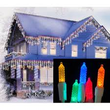 twinkling white led icicle lights set of 70 multi color led m5 twinkle icicle christmas lights white