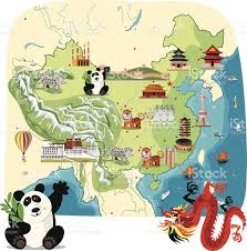 Map Of China by Cartoon Map Of China Stock Vector Art 147498894 Istock