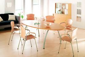 Office Furniture Meeting Table Delighting Cool Conference Table With Beige Accents Color Combined