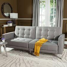 Foldable Sofa Chair by Grey Sofa Bed Upholstered Futons Safavieh Com