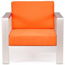 mod aluminum outdoor arm chair u2014 orange cushions set of 2