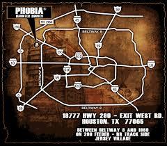 houston event map phobia haunted houses 8 haunts 1 killer location houston tx