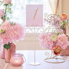 bridal bouquet holder table clip 6 wedding party place card table number name photo stationery clip