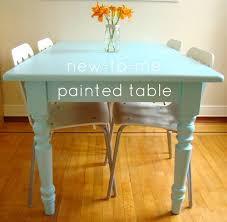 Diy Paint Dining Room Table Furniture Impressive Painted Oak Dining Table And Chairs Table