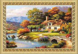 Country Cottage Cross Stitch Online Get Cheap Country Cottage Decor Aliexpress Com Alibaba Group