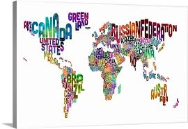 world map black and white with country names pdf country names world map multicolor on white wall canvas