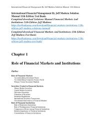international financial management by jeff madura solution manual