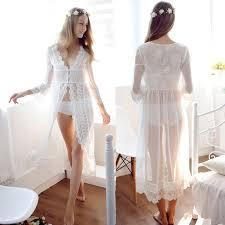 Cheap Wedding Lingerie Aliexpress Com Buy Lace White Wedding Robe Lingerie Dreams
