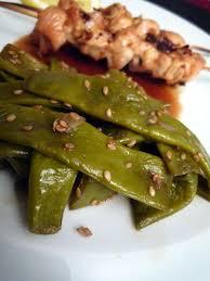 comment cuisiner les haricots plats wok de haricots plats au sésame l effet chocolat