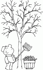 tree with no leaves coloring page coloring home
