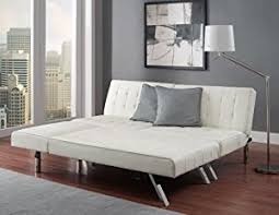 Couches With Beds Amazon Com Modern Sofa Bed Sleeper Faux Leather Convertible Sofa